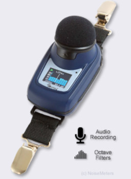 dbadge2 Pro Noise Dosimeter with audio recording and octave band filters