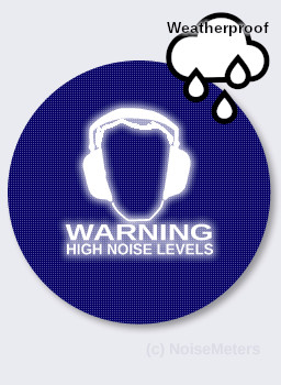 Outdoor Noise Activated Warning Sign